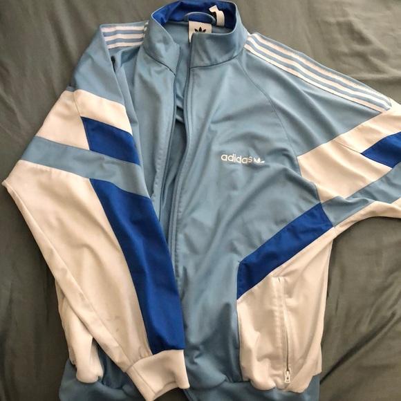 Escarpado Abrasivo dominar  adidas Jackets & Coats   Adidas Retro Blue Jacket   Poshmark